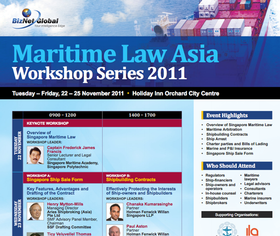 Maritime Law Asia Workshop Series 2011